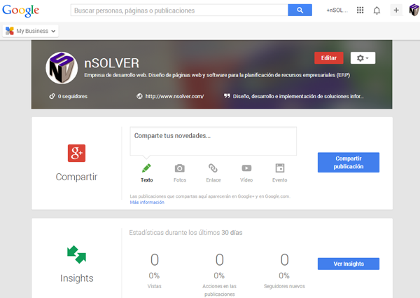 nSolver Google My Business