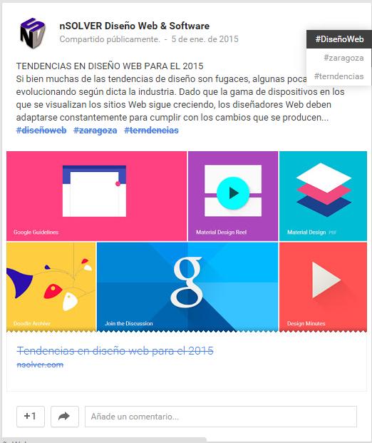 Hashtags en Google Plus