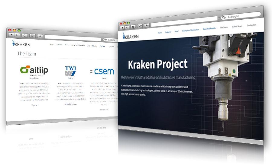 Página web Kraken